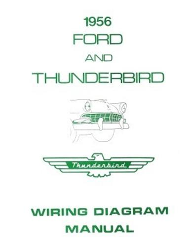 FORD    1956 Customline  Fairlaine   Thunderbird    Wiring       Diagram    Manual   eBay