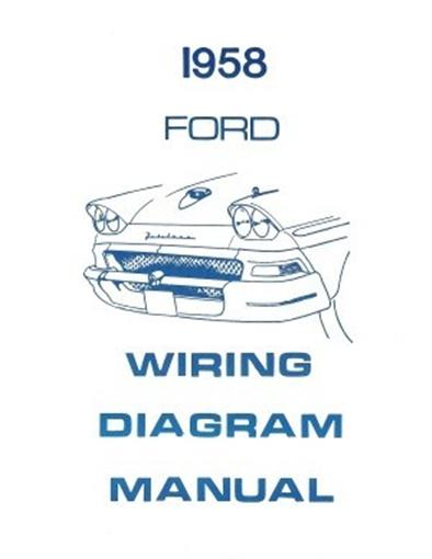 Ford 1958 Custom  Fairlaine  U0026 Fairlane 500 Wiring Diagram