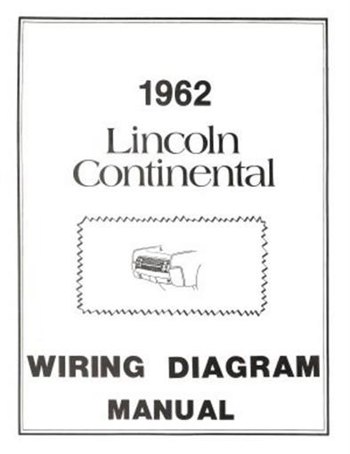 LINCOLN 1962 Continental Wiring Diagram Manual 62   eBay