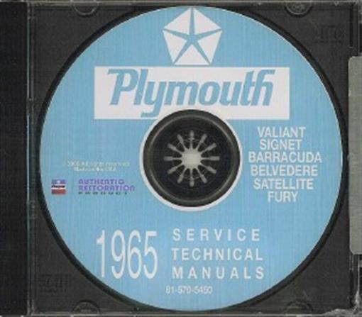 1965  65   BARRACUDA //BELVEDERE// VALIANT SHOP MANUAL