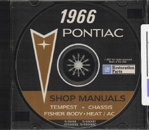 PONTIAC 1966 Shop & Body Manual CD 66 GTO & Tempest