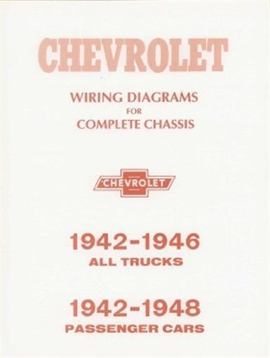 chevrolet 1942 thru 1946 chevy pick up truck wiring diagram 42 46 ebay rh ebay com
