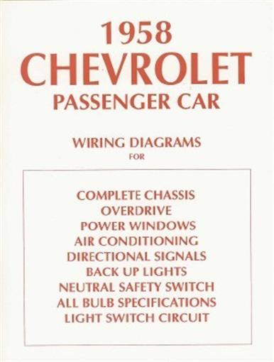 Chevrolet 1958 Chevy Car Wiring Diagram 58