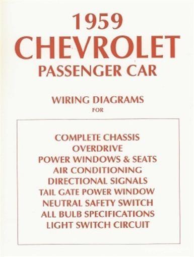 details about chevrolet 1959 chevy car & el camino wiring diagram 59 1965 impala wiring diagram 1959 chevy impala wiring diagram #15