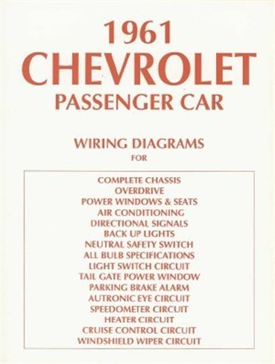 Chevrolet 1961 Impala  Bel Air  U0026 Biscayne Full Size Car Wiring Diagram