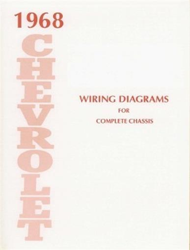 this listing is for one brand new 1968 chevrolet wiring diagrams booklet  measuring 8 � x 11, covering the complete chassis, overdrive, power windows  & seats