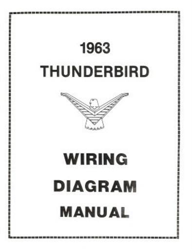 ford 1963 thunderbird wiring diagram manual 63 ebay rh ebay com