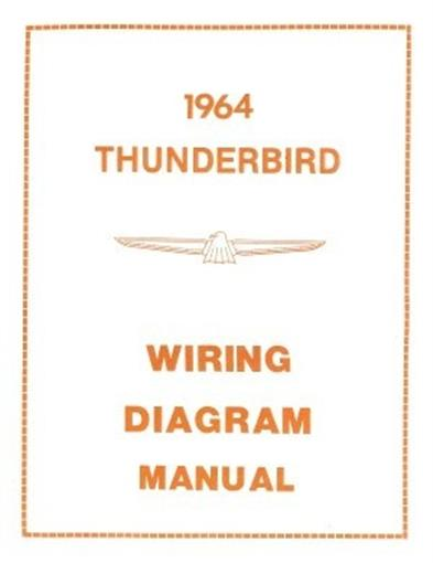 FORD 1964 Thunderbird Wiring Diagram Manual 64 | eBay