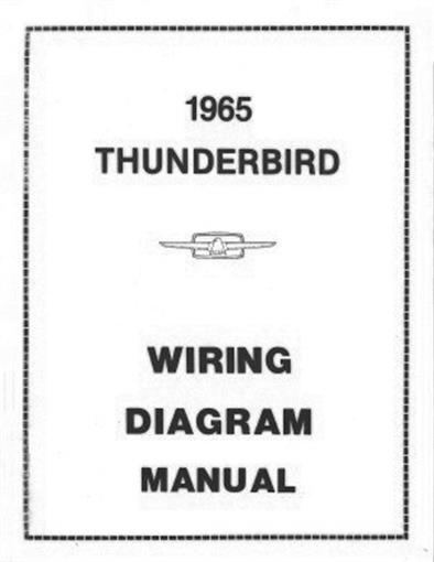Ford 1965 Thunderbird Wiring Diagram Manual 65