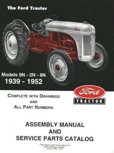ford tractor 8n 9n 2n assembly manual 1939 1952 ebay rh ebay com ford 8n tractor service manual ford 8n tractor service manual