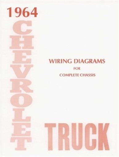 this 1964 chevrolet truck wiring diagrams booklet measuring 8 ½ x 11,  covers the complete chassis, directional signals, backup lights, all bulb  specs,